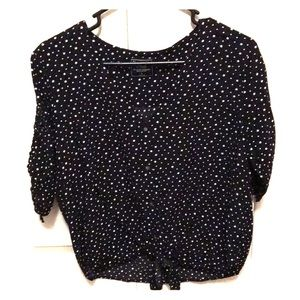 Black blouse with white stars